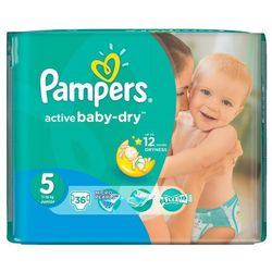 Pampers Active Baby-Dry rozmiar 5 Junior 36 szt.