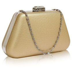 273d0312af895 Wielka brytania Złota torebka wizytowa na wesele z kryształowym zamknięciem  - złoty