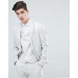 479c1ab4796c8 ASOS DESIGN wedding slim suit jacket in ice grey 100% wool - Grey, wełna