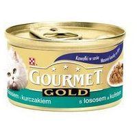 7540eb7a3a1263 GOURMET Gold - Kawałki w sosie z łososiem i kurczakiem 85g. Dla dorosłych  kotów.