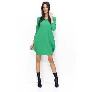 85e5128bfd Chabrowa Ciepła Sukienka z Golfem w Norweskie Wzory - porównaj zanim ...