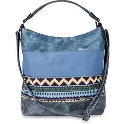 01eec2105cab1 Bonprix Torba shopper w stylu etno z denimu niebieski dżins