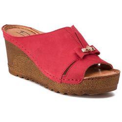 729b4d608c7e2 Klapki POLLONUS - 5-1074-003 Czerwony Samuel, kolor czerwony