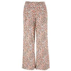 073bb41766d274 Spodnie palazzo z dżerseju bonprix brunatny w cętki leoparda, kolor brązowy