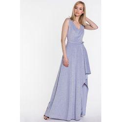 fdd314141c Brokatowa sukienka o asymetrycznym kroju - Studio Mody Francoise