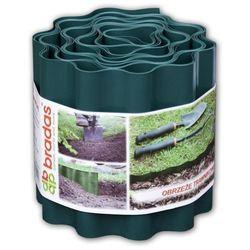 Obrzeże trawnikowe faliste 9m x 10cm zielone CARTO