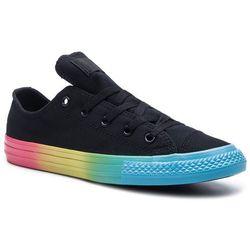 Tenisówki CONVERSE - Ctas Ox 664199C Black/Racer Pink/Gnarly Blue