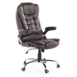 Krzesło biurowe regulowane ekoskóra brązowe ROYAL