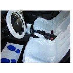 Foliowy zestaw ochronny do zabezpieczenia wnętrza samochodu 50 sztuk