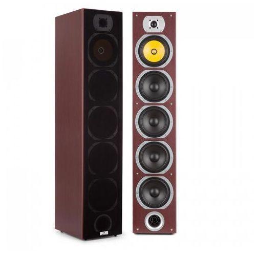 Kolumny głośnikowe, Auna V7B 4-drożne kolumny stojące Bassreflex 440 W konstrukcja wieżowa mahon