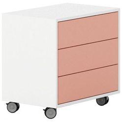 Szafka na kółkach, 3 szuflady White LAYERS ceglane szuflady