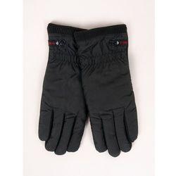 Rękawiczki męskie materiałowe czarne dotyk abs 25