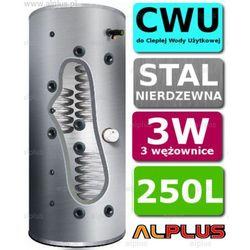 Bojler JOULE CYCLONE 250L 3-wężownice 3W nierdzewka wymiennik podgrzewacz CWU. Wysyłka GRATIS!
