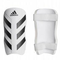 Piłka nożna, Ochraniacze piłkarskie Adidas Everlite białe rozmiar XL