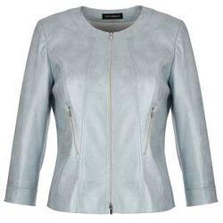 Stalowa kurtka z ekoskóry (Kolor: srebrny, Rozmiar: 40)