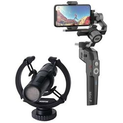 Stabilizator do aparatu, kamery i smartphone Moza Mini-P + Mikrofon On-Camera MIRFAK N2 - MPG02- Zamów do 16:00, wysyłka kurierem tego samego dnia!
