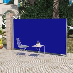 Markiza boczna na taras, 180 x 300 cm, niebieska