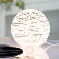 Lampka na stolik Giba max.25W nikiel sat./opal-brąz