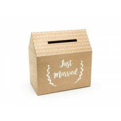 """""""Pudełko na koperty - Just Married, kraft, 30x30,5x16,5cm (1 karton / 60 szt.)"""""""