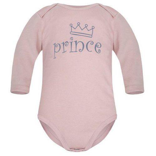 Body niemowlęce, Dziecięce body długi rękaw pudrowy róż - Prince
