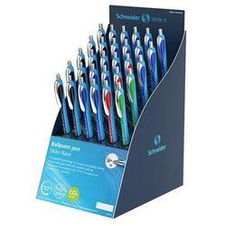 Display długopisów automatyczny SCHNEIDER Slider Rave, XB, 30 szt., miks kolorów