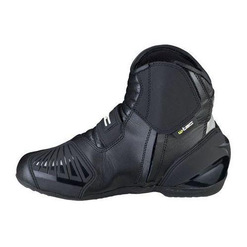 Buty motocyklowe, Skórzane buty motocyklowe W-TEC Tocher NF-6032, Czarny, 43