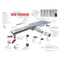 Odwodnienia prysznicowe, WIPER odpływ liniowy Ponente New Premium 50 cm pełen zestaw 100.1972.01.050