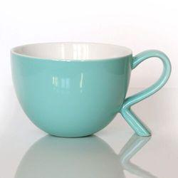 Kubek/miseczka z nóżką miętowy – eleganckie naczynie na kawę herbatę przekąskę, wyjątkowy design
