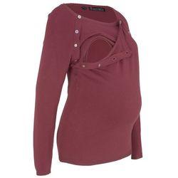 Sweter ciążowy i do karmienia piersią bonprix czerwony klonowy