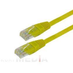 4World kabel krosowy RJ45, bez osłonki, Cat. 5e UTP, 1.8 m, żółty (04730) Darmowy odbiór w 21 miastach!