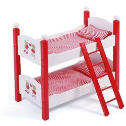 Bayer Chic Łóżko piętrowe dla lalek, czerwone