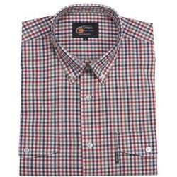Bawełniana koszula męska w drobną, kolorową kratkę Mr. Unique z krótkim rękawem