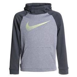 Nike Performance DRY HOODIE Bluza z kapturem carbon heather/anthracite/volt