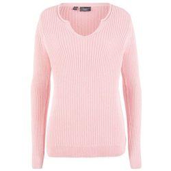 Sweter bonprix beżowo-szary