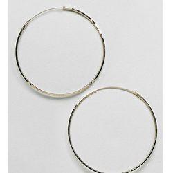 ASOS Gold Plated Sterling Silver 60mm Flat Edge Hoop Earrings - Gold