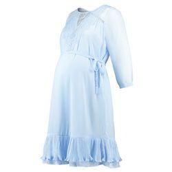MAMALICIOUS MLGAVIA LACE SHORT DRESS Sukienka letnia cerulean