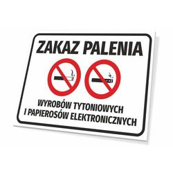 Tabliczka zakaz palenia wyrobów tytoniowych i papierosów elektronicznych
