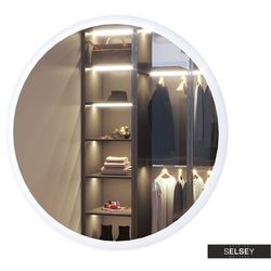 SELSEY Lustro ścienne okrągłe Goolar o średnicy 80 cm z oświetleniem LED
