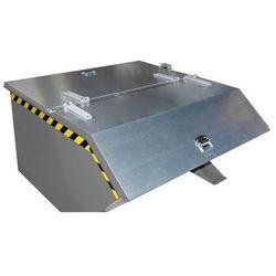 Pokrywa składana, do poj. pojemnika 0,75 m³, ocynkowanie. 2-częściowa. Możliwość