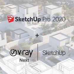 SketchUp Pro 2020 PL BOX + V-Ray + Skatter