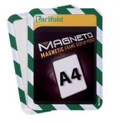 Kieszeń magnetyczna A4, 2 szt., zielono-biała