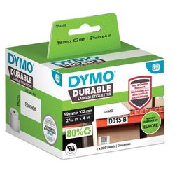 Oryginalne etykiety polipropylenowe DYMO LW 102mm x 59mm durable 1933088 białe/czarny nadruk
