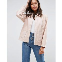 ASOS Washed Cotton Jacket - Pink