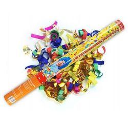 Tuba strzelająca - konfetti i serpentyny metaliczne - 40 cm - 1 szt.