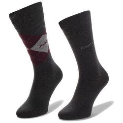 Zestaw 2 par wysokich skarpet unisex JOOP! - Socks Classic Argyle 900.011-2 Anthra Mel. 2100M