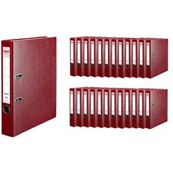 Segregator A4 5cm 50mm 25 sztuk Q.File HERLITZ - 5cm \ czerwony