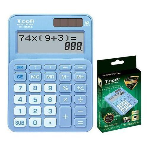 Kalkulatory szkolne, Kalkulator dwuliniowy 10-pozyc. TR-1223DB-B TOOR
