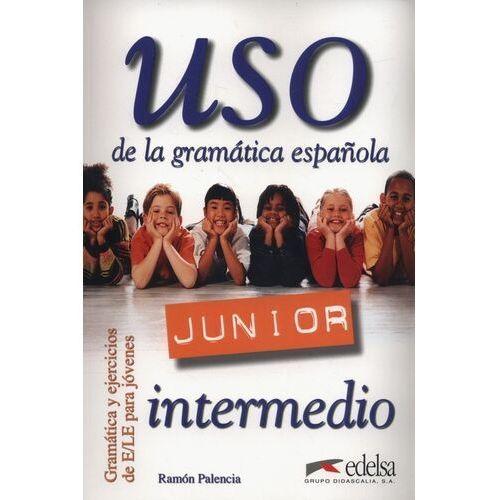 Książki do nauki języka, Uso de la gr.esp.junior intermedio (opr. miękka)