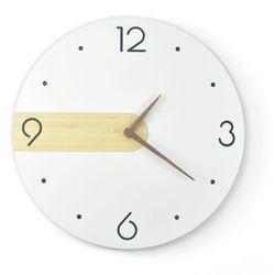 BAMBUSOWY Zegar ścienny NORD Simple