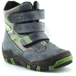 Buty zimowe dla dzieci marki Kornecki 04997 - Zielony ||Granatowy Obuwie zimowe -30% (-30%)
